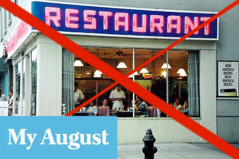 No restaurant graphic